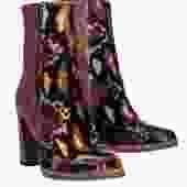 Free People - Brown Leather & Calf Hair Leopard Print Booties Sz 6