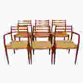 Set of 6 Danish Teak Niels Moller Dining Chairs