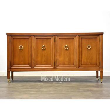 Walnut & Brass Credenza Cabinet by mixedmodern1