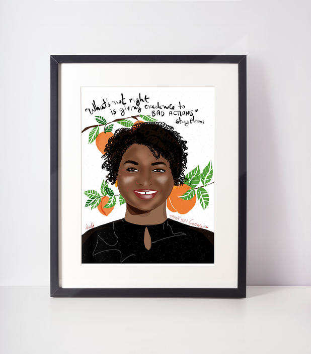 Stacey Abrams | Art Print | Girl Power decor | Feminist wall art by VioletredStudio