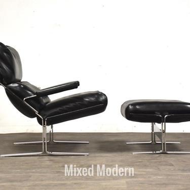 Richard Hersberger for Sapiriti Italian Leather and Chrome Lounge Chair and Ottoman by mixedmodern1