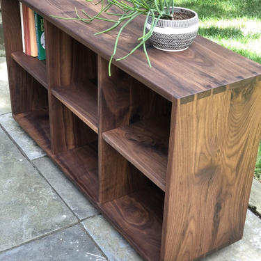 Storage Cubby Bookcase - Solid Wood by AvocationHardwoods