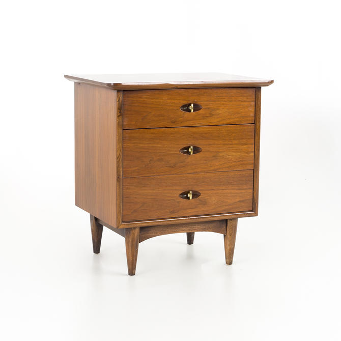 Kent Coffey Greenbrier Mid Century Walnut Nightstand - mcm by ModernHill