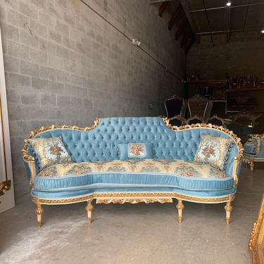 French Throne Chairs Vintage Furniture Baroque Sofa *3 Piece Set Available* Tufted Chair French Furniture Vintage Chair Interior Design by SittinPrettyByMyleen