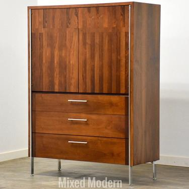 Rosewood, Walnut and Chrome Armoire Dresser by Lane by mixedmodern1