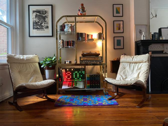 Mid century lounge chair Danish modern sling chair Ingmar Relling siesta chair for Westnofa a pair by VintaDelphia