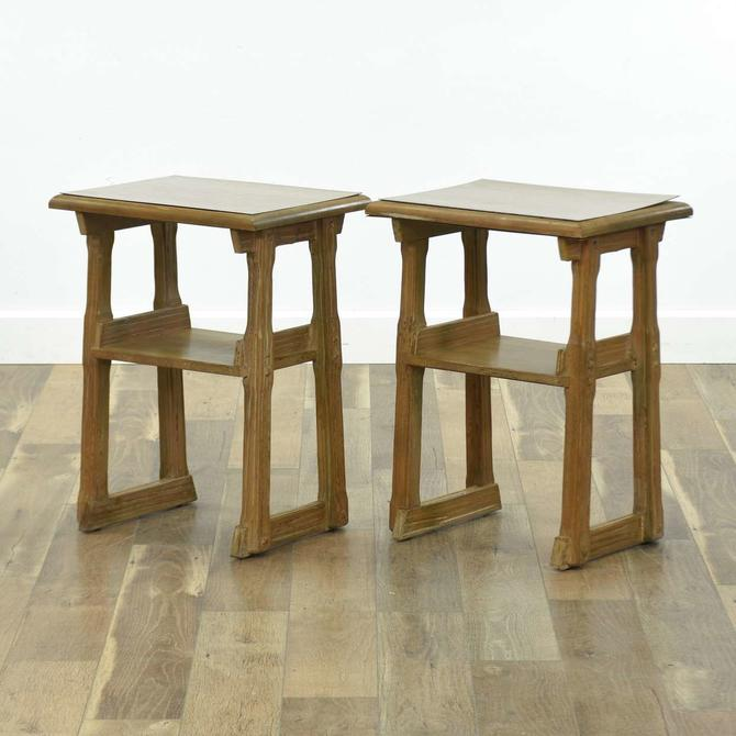 Pair Of A Brabdt A-Frame End Tables