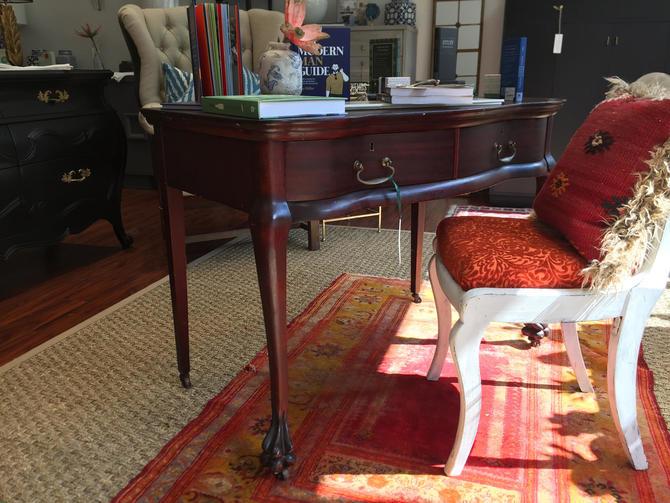 Mahogany Two Drawer Desk #345 by StylishPatina