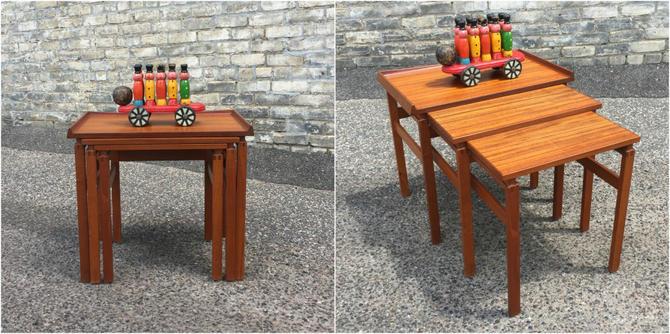 Teak Nesting Table Set