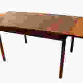 Danish Modern Teak Extendable Dining Table by Marykaysfurniture
