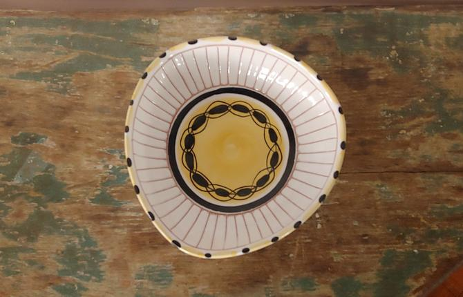 Scandinavian Modern Norwegian Pottery Bowl by Elle Keramikk c. 1950's by ModandOzzie