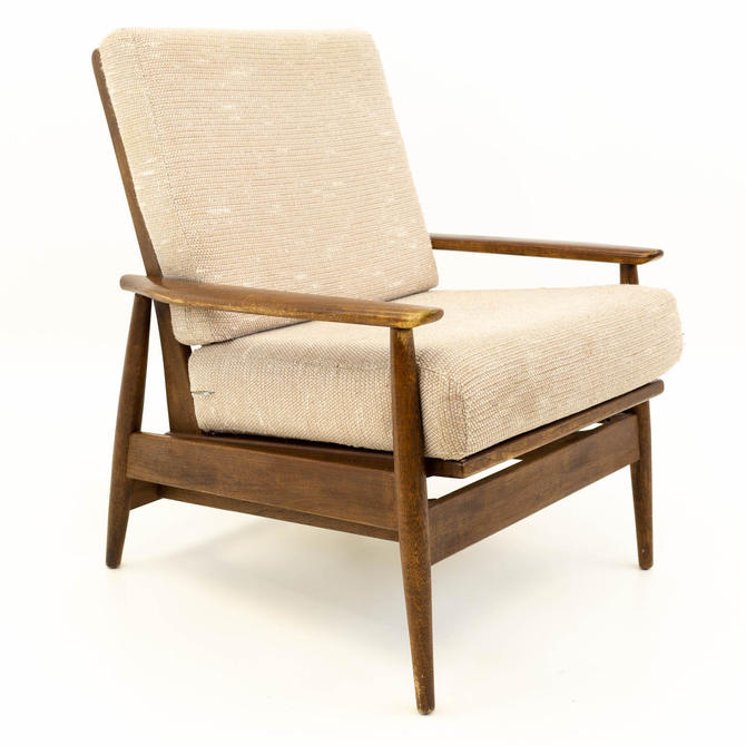 Viko Baumritter Mid Century Walnut Rocking Danish Chair - mcm by ModernHill