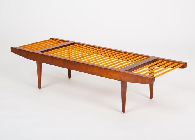 Small Dowel Bench by Milo Baughman for Glenn of California