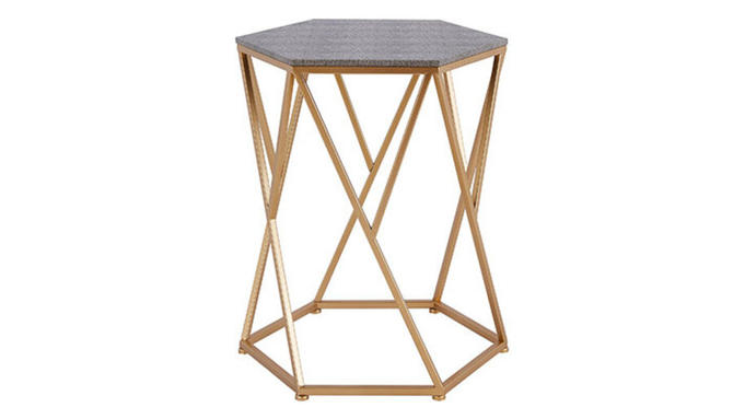 """Cressa"" End Table in Faux Shagreen"