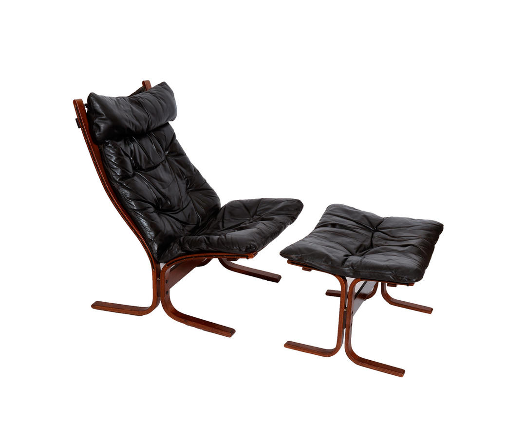 Black Leather Lounge Chair And Ottoman Westnofa Siesta