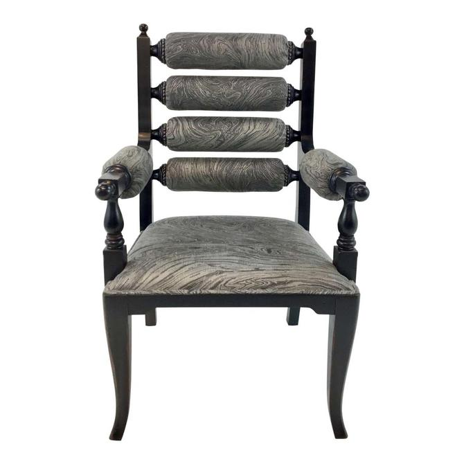 Currey & Co. Black and Gray Dahlwood Chair