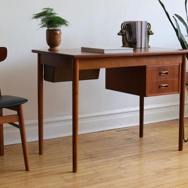 Mid Century Danish Modern Drop Down Vanity Desk by SpacedOutFurniture