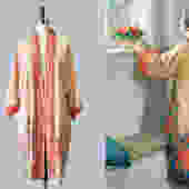 1920s Kimono / 20s Tissue Silk Robe / Thin Japanese Jacket / Pongee Silk by GuermantesVintage