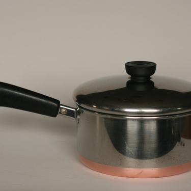 vintage revere ware 2 quart saucepan copper bottom clinton illinois 1992 by suesuegonzalas
