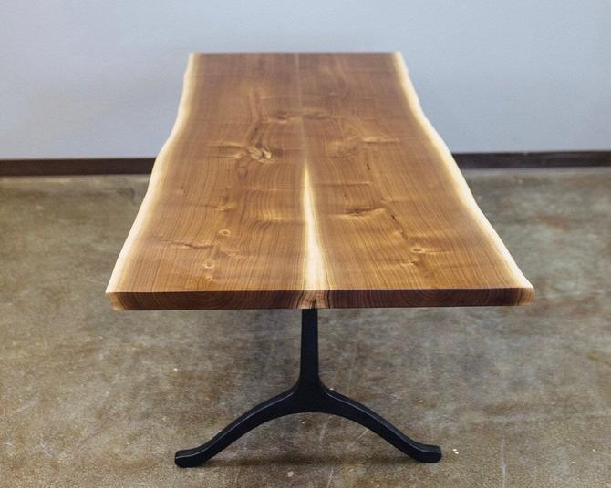 Black Walnut Dining Table with Wishbone Legs - Live Edge Scandinavian Design by StocktonHeritage