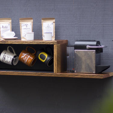Coffee Station Shadow Box by EvansWoodshopDesign
