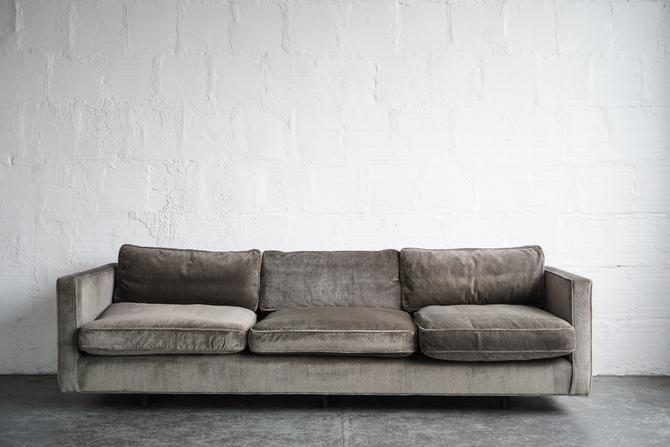 Harvey Probber Green Down Sofa