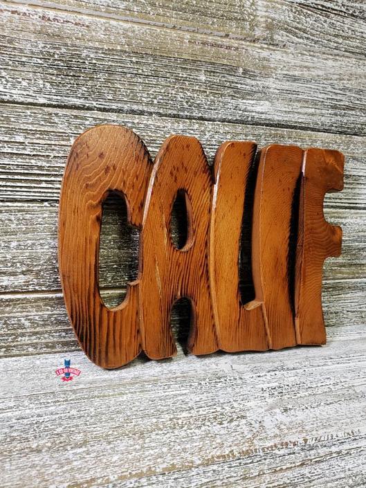 Vintage CALIF Trivet, Wood Carved California Souvenir, Wood Cooling Rack, Hot Plate Hot Pad, POP ART Graphic Typography, Vintage Kitchen by AGoGoVintage