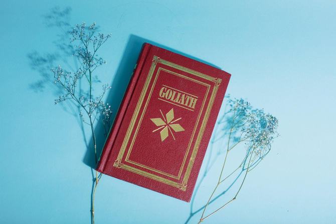 Vintage Reclaimed Repurposed Handbound Book Watercolor Sketchbook - Goliath by AppleBranchesVintage