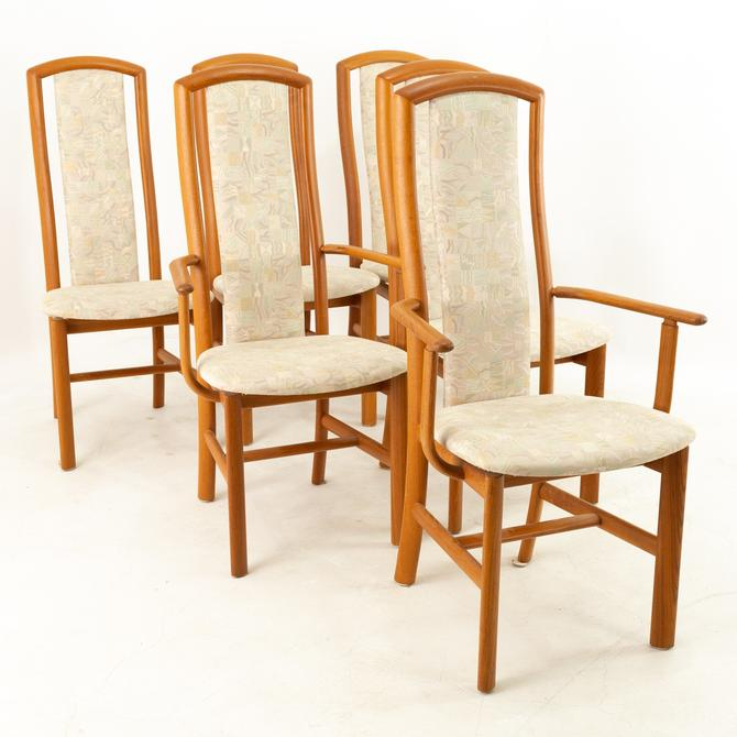 Skovby Mobelfabrik Mid Century Teak Highback Dining Chairs - Set of 6 - mcm by ModernHill