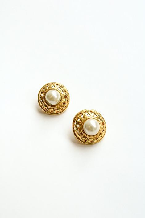 Vintage Oversized Pearl Clip-On Earrings