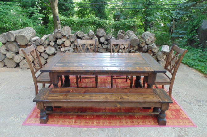 Reserved: Deposit for Taylors's Custom Farmhouse Table and Extensions by WonderlandWoodworks