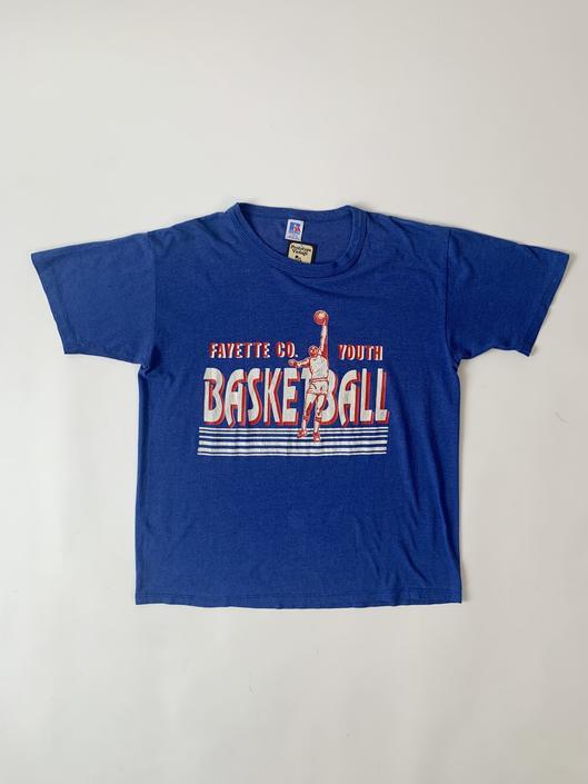 1980's Blue Basketball Tee
