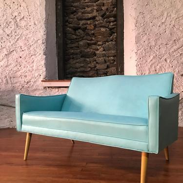 Mid century sofa mid century loveseat danish modern sofa by VintaDelphia