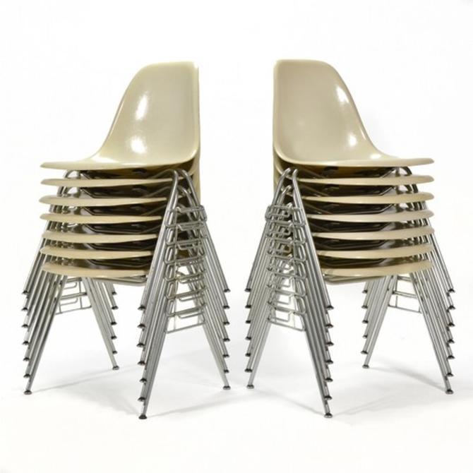 Set of 14 Eames DSS Fiberglass Side Chairs