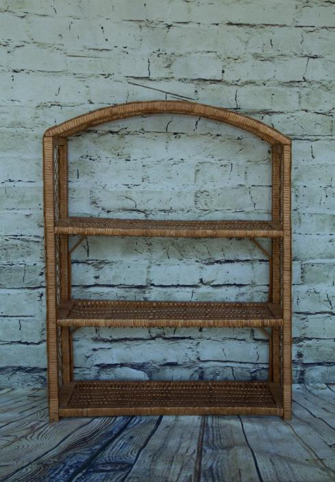 SHIPPING NOT FREE!!! Vintage Wicker 3 Tier Wall Shelf by WorldofWicker