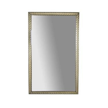 Vintage 84in x 52in Full Length Wall Mirror Ornate Silver Gilt Wood Gesso Frame by PrairielandArt