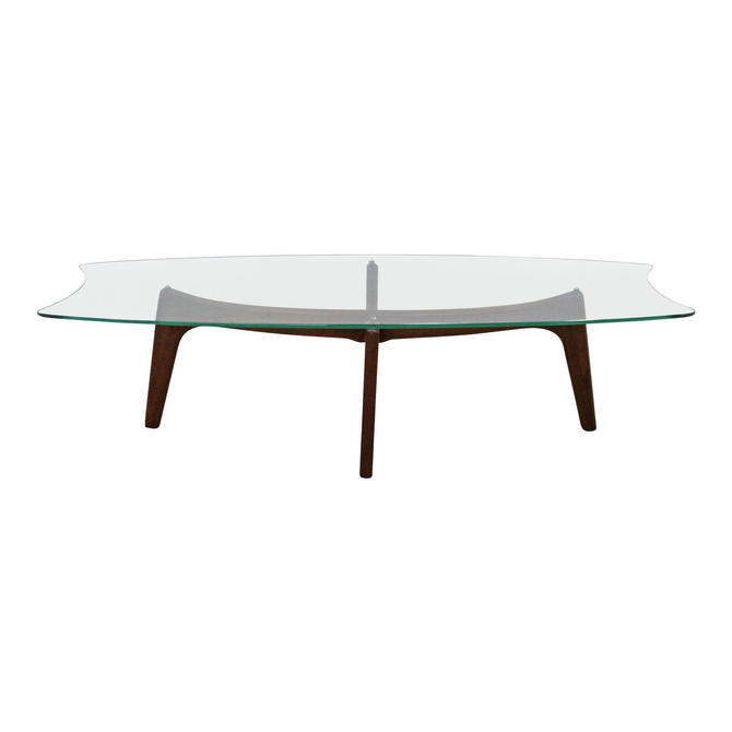 Mid-Century Modern Adrian Pearsall Stingray Walnut & Glass Coffee Table by AnnexMarketplace