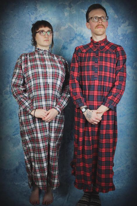 80s Plaid Flannel Nightgown 9c81139db