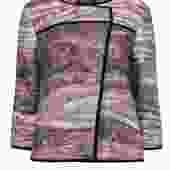 Lafayette 148 - Brown Marbled Metallic Wool Blend Jacket Sz M