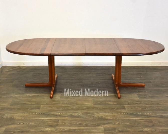 Danish Teak Extendable Oval Dining Table by mixedmodern1