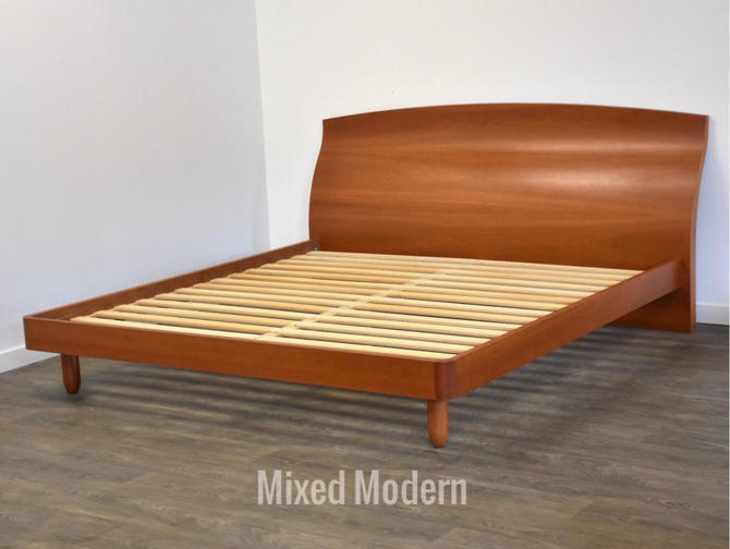 Solid Cherry Modern King Bed by mixedmodern1