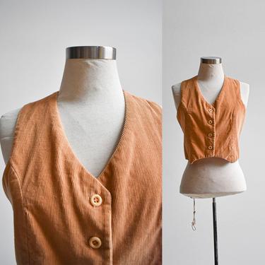 Vintage Brown Corduroy Vest by milkandice