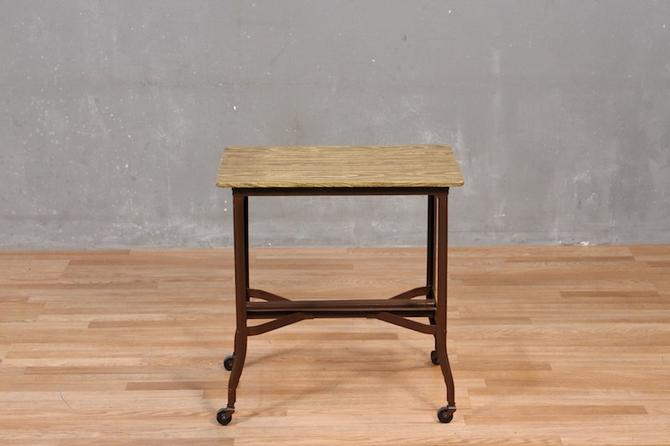 Woodgrain-Top Typewriter Table – ONLINE ONLY