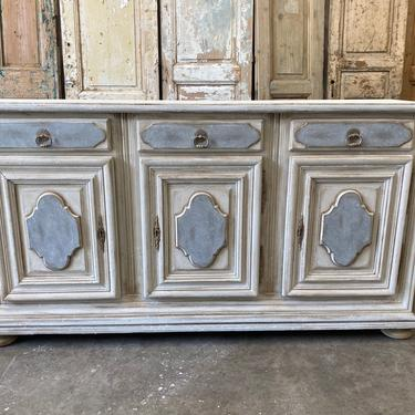 19th C Tuscan Painted Buffet Sideboard
