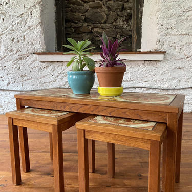 Mid century end table Danish modern side table mid century nesting table a set by VintaDelphia
