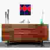 Gorgeous Walnut MCM Credenza Dresser Danish Modern