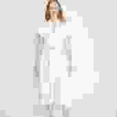 Knot Dress, Organic Cotton Bubble Gauze in White