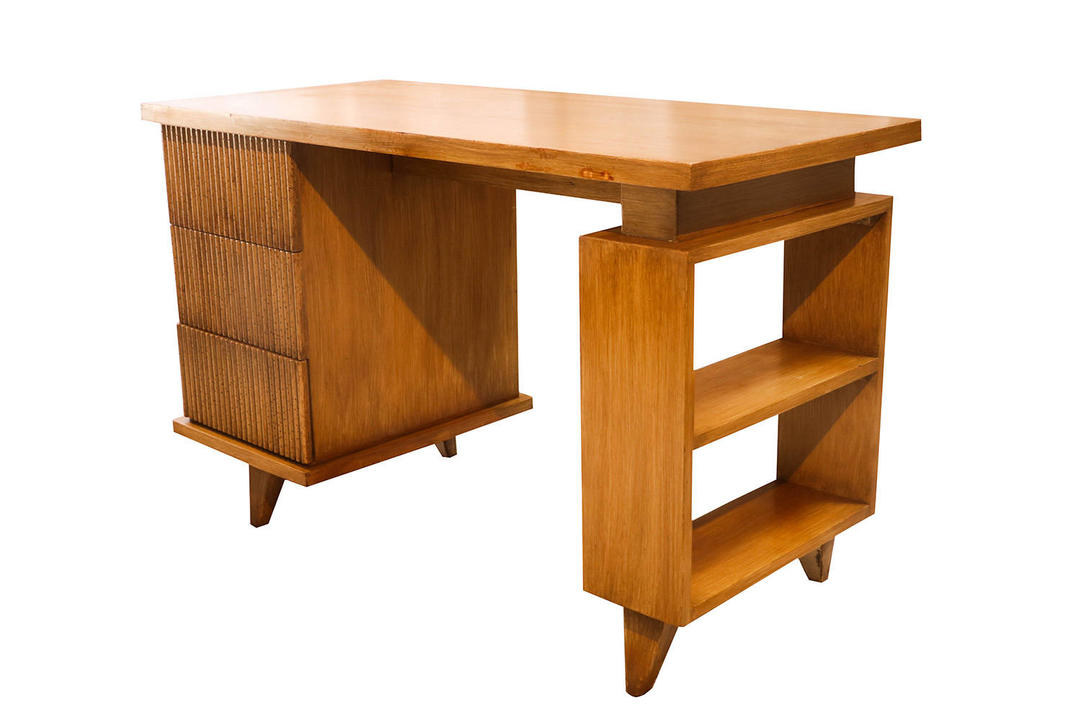 American Of Martinsville Bamboo Desk By Marykaysfurniture