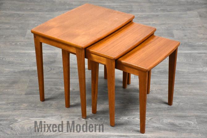 Danish Modern Teak Nesting Tables by mixedmodern1