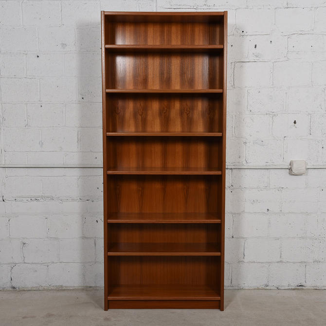 Extra Tall Danish Teak Adjustable Bookcases